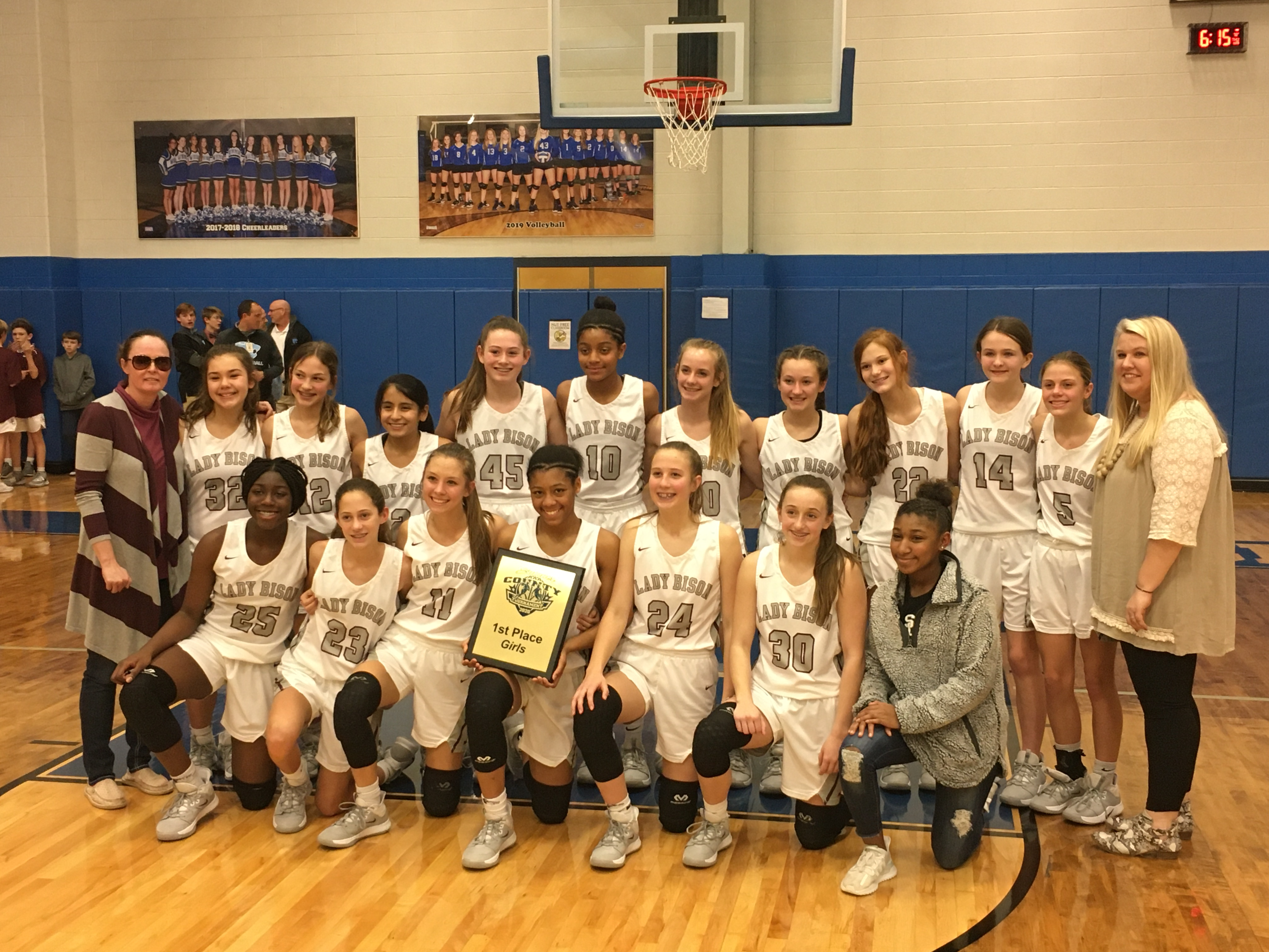 Lady Bison SCS Middle School Tournament Champions!